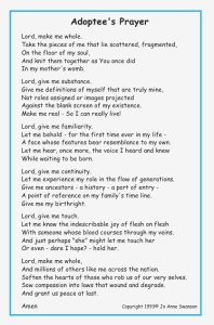 Adoptee Prayer